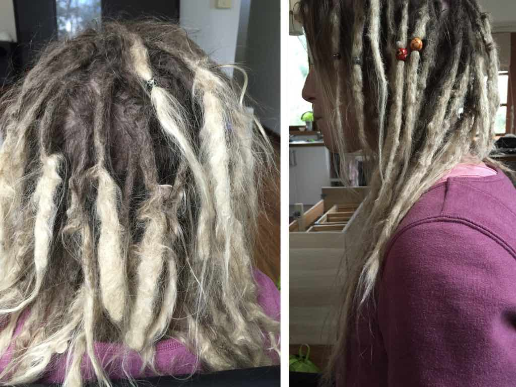 repairing homemade dreadlocks