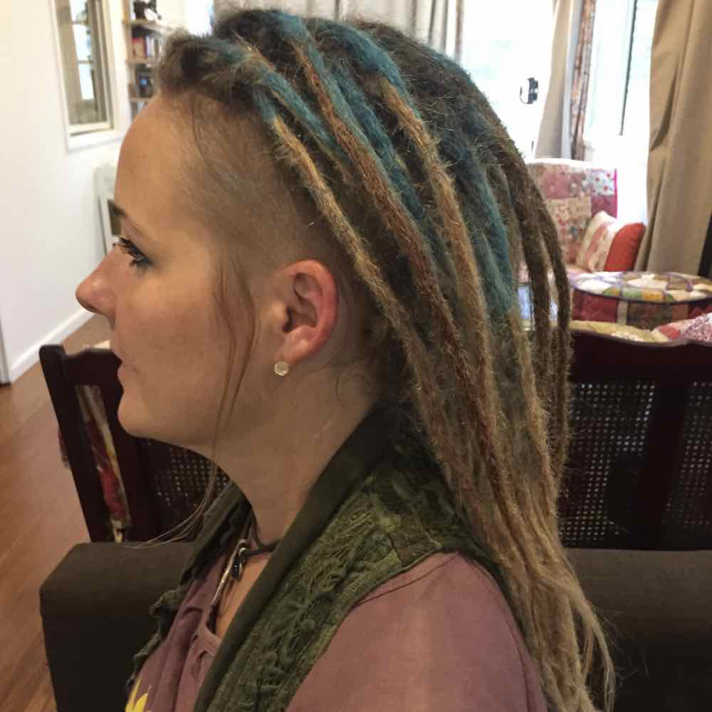 faux locs blue dreadlocks