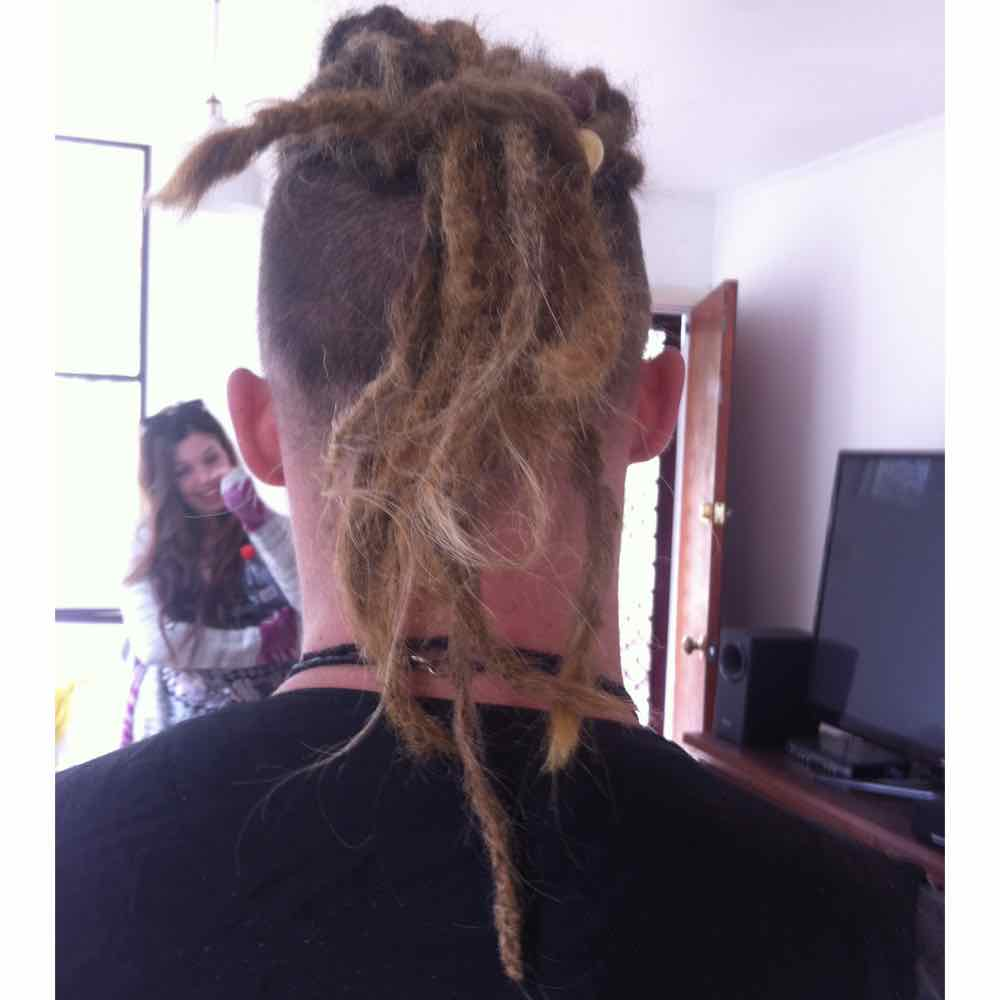 Dread extensions for men, dreadhawk, dreadlock ponytail