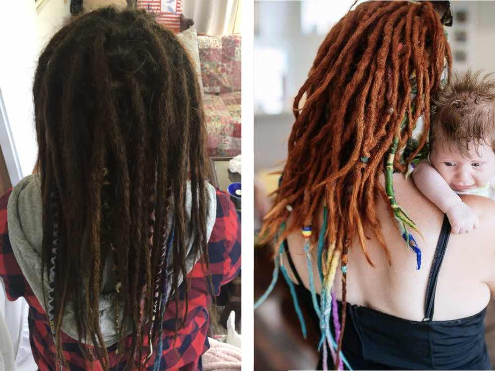 Having your locs tied up brings you back to that feeling when they were first put in.