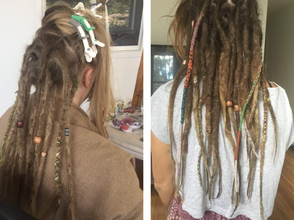 Some clients opt for just a few dreadlocks beads or wraps, while others like the flair of a whole lot of adornments including dreadlock tubes.
