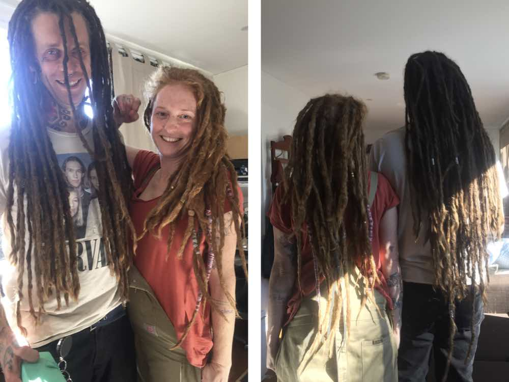 It's always a pleasure to do tidy ups for more than one dread loc enthusiast.