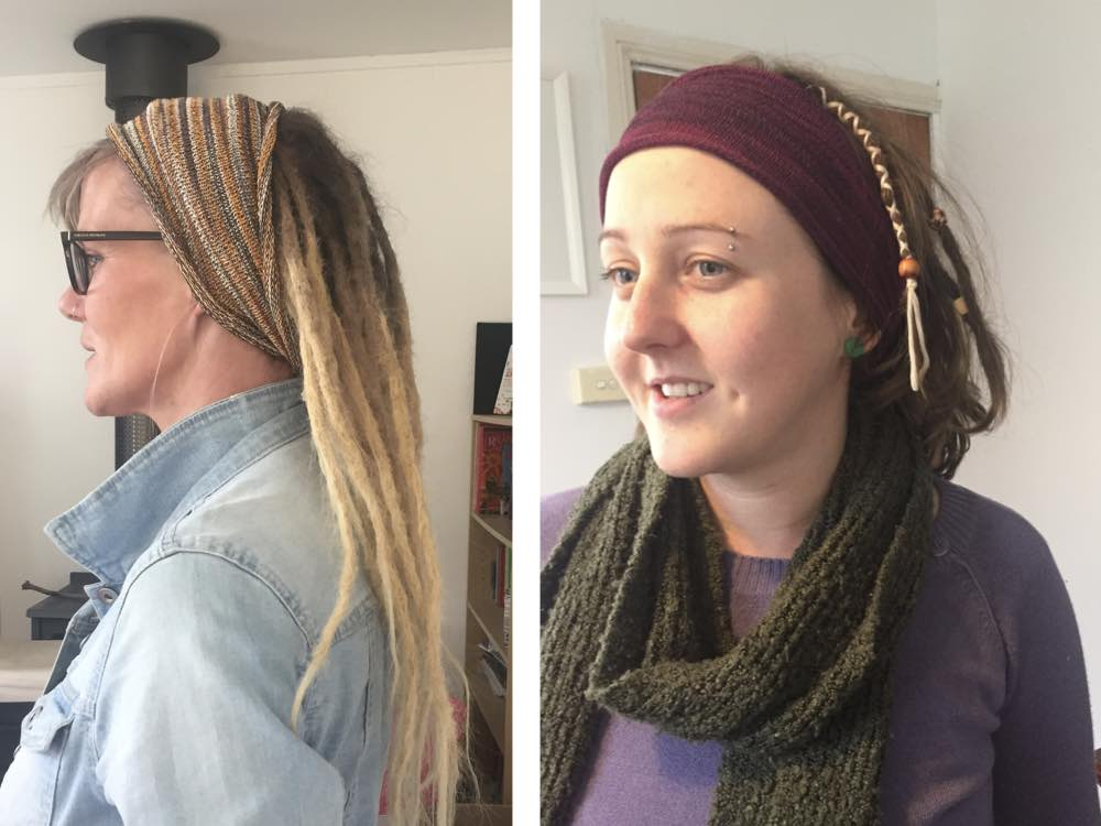 Dreadlock covers can also be used to take your dreads off your neck.