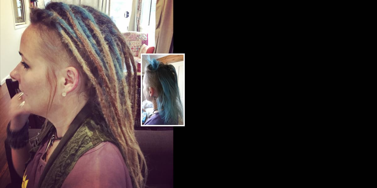 dreadlock extensions on short hair
