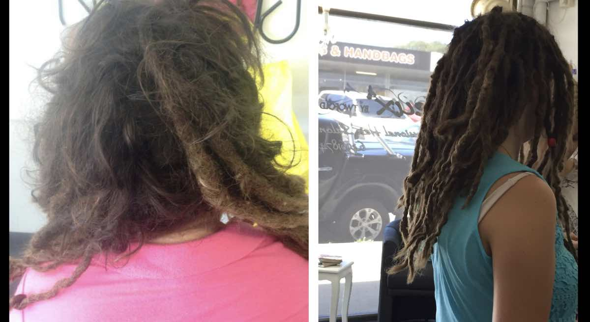 Dreadlocks Before & After