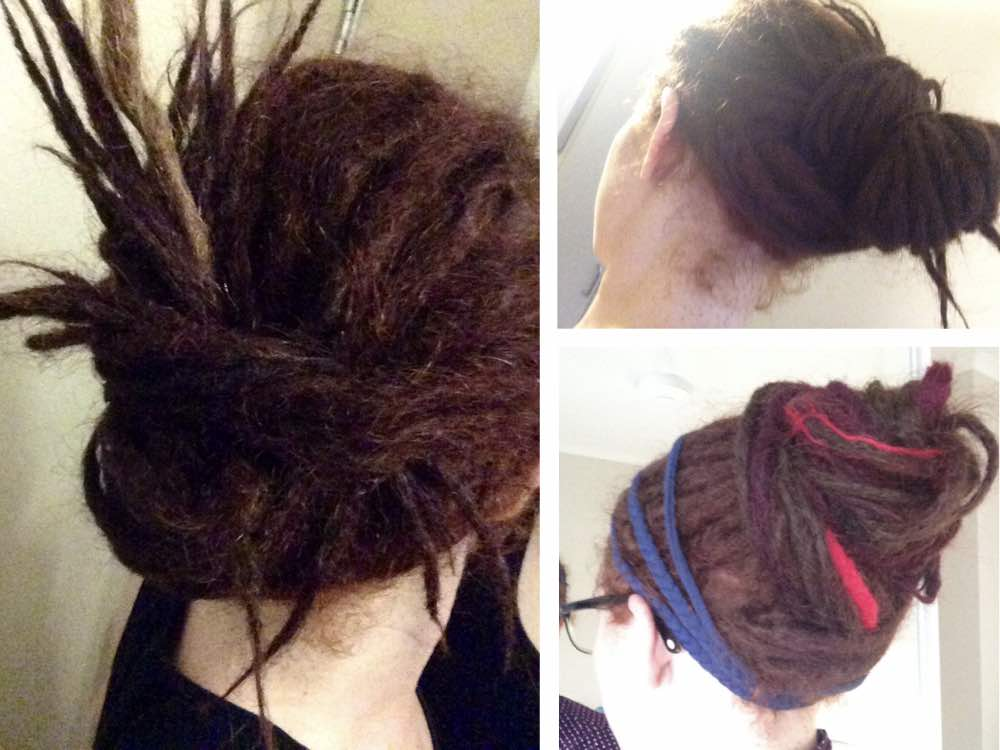 Long dreads or having loc extensions gives you endless dreadlocks styles and ways to wear your locs.