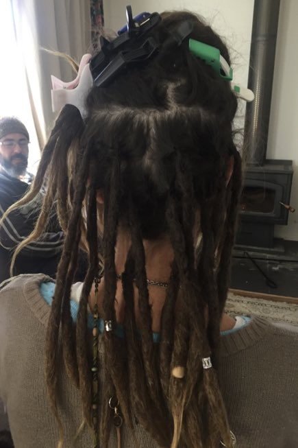 Dreads to the back