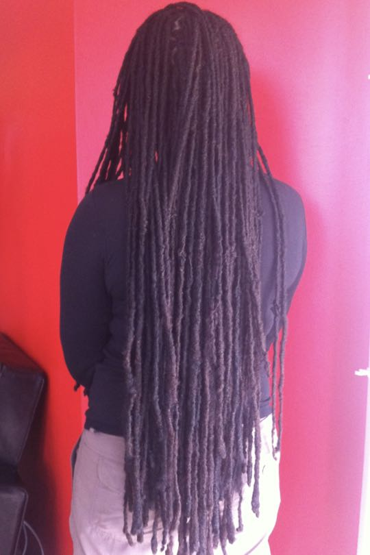 Repairing of poorly created dreads & root maintenance for new growth and loose hairs.